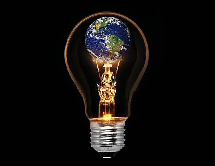 Globe in Lightbulb